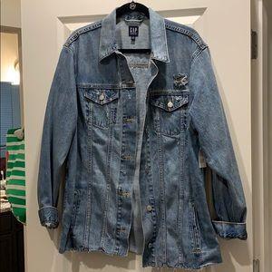 Gap Oversized Distressed Icon Denim Jacket